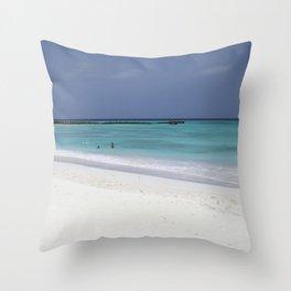 Beach perfection Throw Pillow