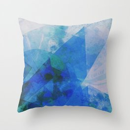 Precipice in Blue XXI Throw Pillow