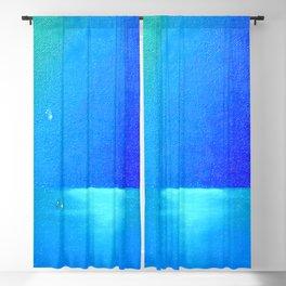 Ocean & Waterdrops / Oil Painting Blackout Curtain