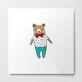 Cute little bear Metal Print