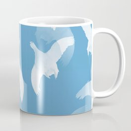 White Birds Against The Blue Sky #decor #society6 #homedecor Coffee Mug
