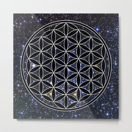 Flower of life in the space Metal Print