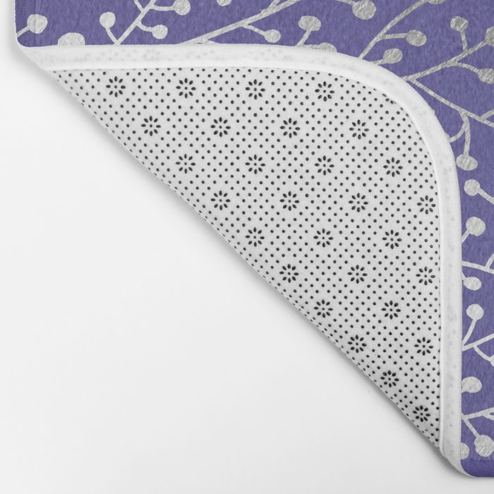 Periwinkle Berry Branches Bath Mat