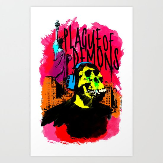 Plague of demons Art Print