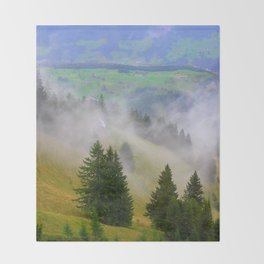 Up the Mountain Throw Blanket