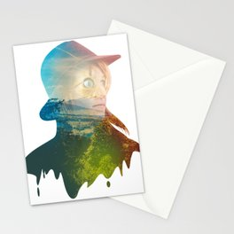 Mysterious Lady on Woods Stationery Cards