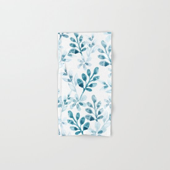 Watercolor Floral Pattern (Winter Version)  Hand & Bath Towel