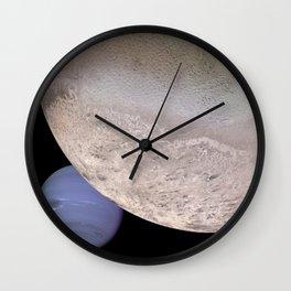 Neptune and Moon Wall Clock