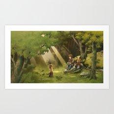 Colombine's apple tree / Le pommier de Colombine Art Print