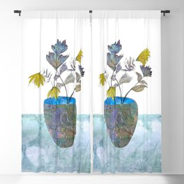 Country flowers Blackout Curtain