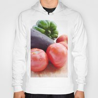 vegetables Hoodies featuring Vegetables by Carlo Toffolo