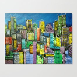City unfolds Canvas Print