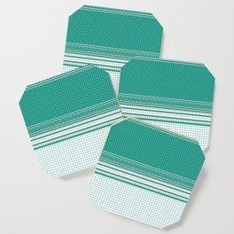 Teal Poka Dot Multi Pattern Design Coaster