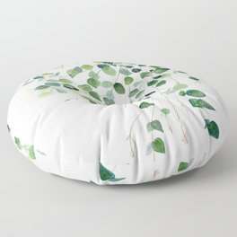 Eucalyptus Watercolor Floor Pillow