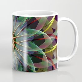Perfectly swirling ribbons, fractal abstract Coffee Mug