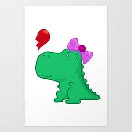 Dinogirl Art Print