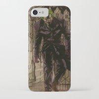 the joker iPhone & iPod Cases featuring joker by DeMoose_Art