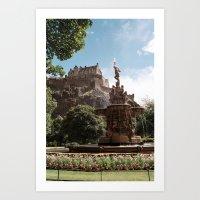 edinburgh Art Prints featuring Edinburgh by Floriane Emelyne