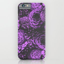 Moody Florals in Purple iPhone Case