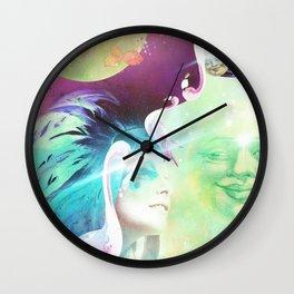 Flamingo Luna Tribe Wall Clock
