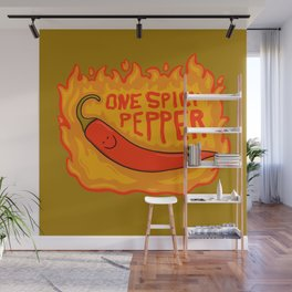 One Spicy Pepper Wall Mural