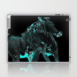 Turquoise Inverse Zebras Laptop & iPad Skin