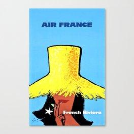 Vintage Air France Poster Canvas Print