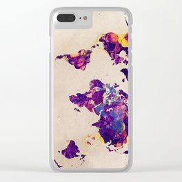 world map 20. Clear iPhone Case