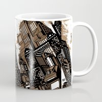 cityscape Mugs featuring Cityscape by David Miley