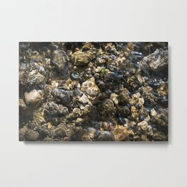 Doulting Pebbles Metal Print