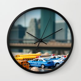 NYC mini cars Wall Clock