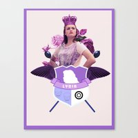 lydia martin Canvas Prints featuring lydia by Papa-Paparazzi