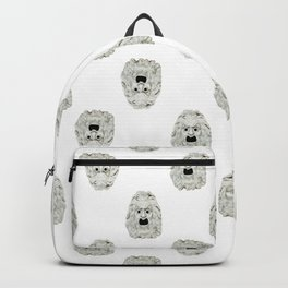 Angry Theater Mask Pattern Backpack
