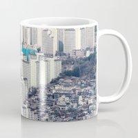 metropolis Mugs featuring Metropolis by Karolina Ostrowska