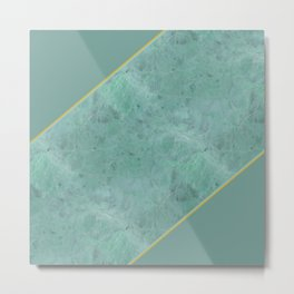 Emerald Green Marble Metal Print