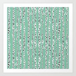 Birch Tree northwest minimal forest woodland nature pattern by andrea lauren Art Print