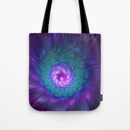 Abstract Beauty, Fractal Art Flower Tote Bag