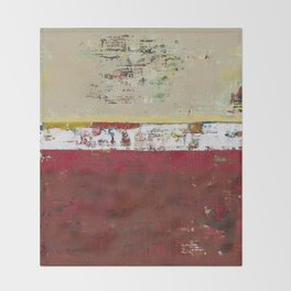 Buffalo Indian Red Burgundy Modern Abstract Art Throw Blanket