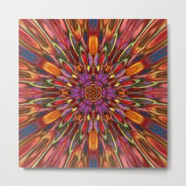 Multicolour Starburst 3 Metal Print