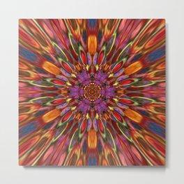 Multicolour Starburst 3 Metal Print