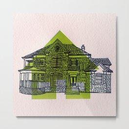 Letterpress Houses 1 Metal Print