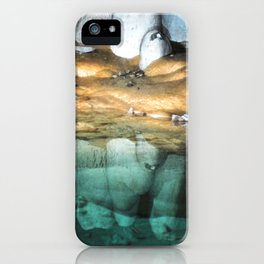 Watercolor Rock, Lechuguilla Cave 19, New Mexico, Pearlsian Reflections iPhone Case