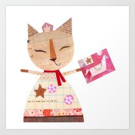 Collage Cat Art Print