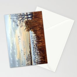 Duck Hunting Season Begins For The Canvasback Stationery Cards