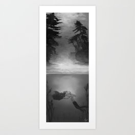 Dramione: a goodbye below the surface Art Print