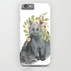 cat with flower crown iPhone 6s Slim Case