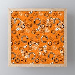 Gamers-Orange Framed Mini Art Print