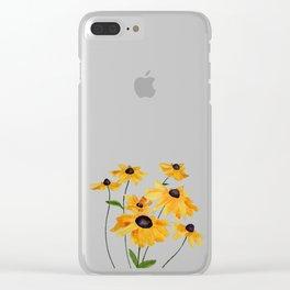 Watercolour Sunshine Clear iPhone Case