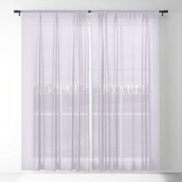 Adorable Sheer Curtain