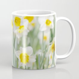 White and yellow daffodils Coffee Mug